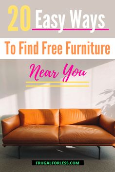 Did you know that there are tons of ways to actually find free furniture near you?  There are ways for you to save money on the cost of furniture by actually getting it for free! Minimalist Lifestyle, Ways To Save Money, Frugal Living, Thrifting, Saving Money, How To Get, Easy, Free, Furniture