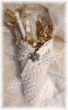 Angel Tussie Mussie, creative paper crafts
