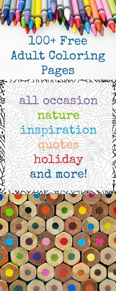 Get over 100 free coloring pages! You'll love these favorites including all occasion, nature, inspirational quotes, holidays, and more.