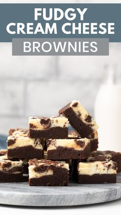 Cream cheese brownies are an awesome dessert! This cheesecake brownie recipe features rich, fudgy brownies swirled with sweetened cream cheese. The best thing about this recipe is how incredibly easy it is! Best Brownie Recipe, Brownie Recipes, Cheesecake Recipes, Cookie Recipes, Cheesecake Brownies, Oreo Fudge, Brownie Ideas, Sponge Cake Recipes, Homemade Cake Recipes