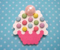 vanilla cuppycake brooch by aselfportrait on Etsy, $9.00