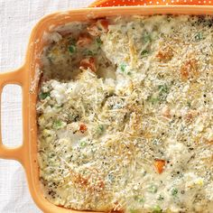 Garden Vegetable Bake Recipe -With every spoonful of this vegetable bake, I drift back to a simpler time in my mom's garden. We weren't allowed in it unless she was with us, filling her basket with ripe tomatoes, pea pods, carrots, green onions and herbs. —Paula Marchesi, Lenhartsville, Pennsylvania