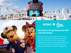 #momsloveflipp #Disney Cruise #contest #win #giveaway