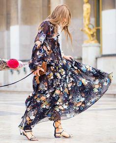 Sonbaharın Tarzı Uçuşan Elbiseler   Moda Trend Stil