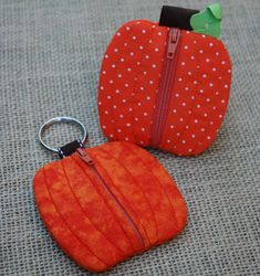 In The Hoop :: Bags, Cases, Purses & Wallets :: Pumpkin Coin Pouch - Embroidery Garden In the Hoop Machine Embroidery Designs
