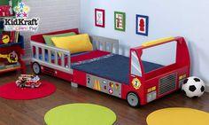 Lit pour enfant camion de pompier en bois 157x75x55cm : Lit KIDKRAFT sur Jardindeco.com
