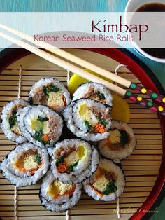 Korean Seaweed Rice Rolls
