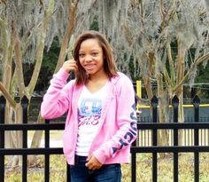 Pink juicy couture jacket; white Aeropostale shirt