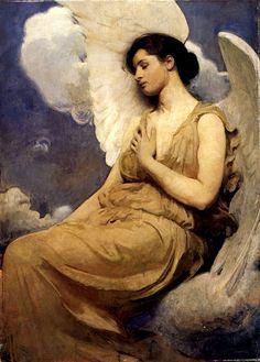 Abbott H. Thayer's 'Winged figure' 1889