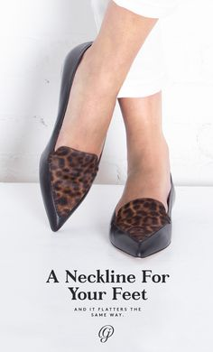 Foot flattery is all in the topline—find the right shoe neckline to highlight your best features.