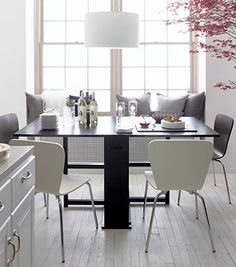 Crate & Barrel Span Black Gateleg Dining Table. Future table! Yes please. It folds up so you can store it off to the side!