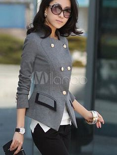 Slim Fit Blazer With Buttons