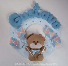 Enfeite Porta Maternidade Urso Pipas