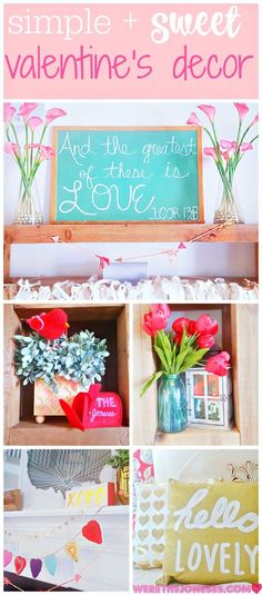 Candy and Easy Valentine's Day Decor Valentine& Decorations Vday Decor . Candy and Easy Valentine's Day Decor Valentine& Decorations Vday Decor And The Best of These Is Love Chalkboard Signal Valentines Day Decorations, Valentine Day Crafts, Christmas Decorations, Valentine Ideas, Holiday Crafts, Holiday Fun, Holiday Ideas, Holiday Decor, Diy And Crafts