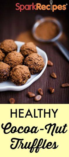 Just 6 ingredients in this clean-eating snack--a great way to get your chocolate fix without added sugar! #recipe #healthy #energy #bites | via @sparkpeople & @thecoachnicole