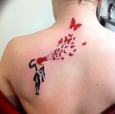 Huge mine Of Red Ink Tattoos designs. Get some most amazing Red Ink Tattoo ideas with meaning. These are the latest Red Ink Tattoos designs for men and wome Body Art Tattoos, Girl Tattoos, Tattoos For Women, Tattoo Art, Small Tattoos, Tatoos, Incredible Tattoos, Beautiful Tattoos, Awesome Tattoos