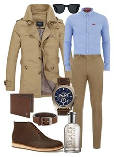 """Men's fashion"" by manoumi on Polyvore featuring Superdry, Lacoste, Brioni, FOSSIL, Tod's, DUBARRY, Barton Perreira, HUGO, men's fashion et menswear"