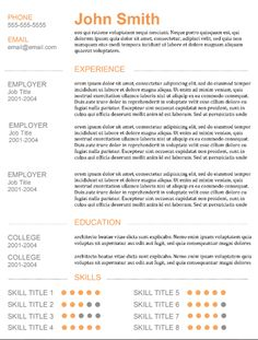 "Great Resume Templates Organic"" Template Resume  Resume And Templates"