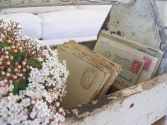 Vintage wooden garden tool box looks so charming with jars of flowers. Description from pinterest.com. I searched for this on bing.com/images