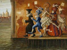 """Jake Baddeley                                             """"via delle aqua""""                                                Oil on canvas, 2009."""