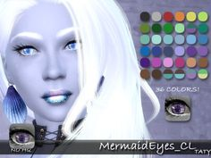The Sims Resource: Mermaid Eyes by Taty • Sims 4 Downloads