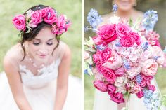Hot Pink and Blue Garden Party Wedding Inspiration | Inspiration | Washingtonian Bride & Groom