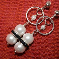 Pearl Earrings Silver Jewelry Wedding Jewellery June by cdjali, $10.00