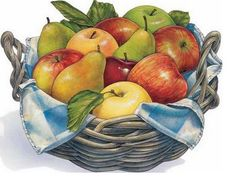 ✿Basket fruits & Vegetables✿ mix fruits in the grey basket