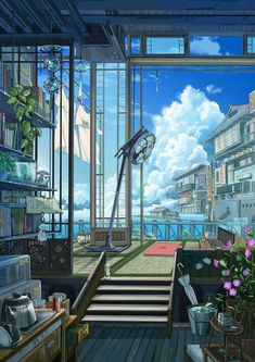 The world i wish to live in studio ghibli background, art background, anime scenery Aesthetic Art, Aesthetic Anime, Fantasy Landscape, Fantasy Art, Landscape Art, Art And Illustration, Arte 8 Bits, Anime Scenery Wallpaper, Anime Artwork