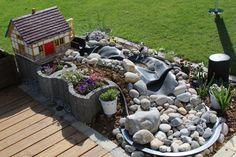 Bachlauf mit Wassermühle Bauanleitung zum selber bauen