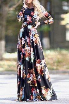 Uzun Yazlık Çiçekli Elbise Modelleri