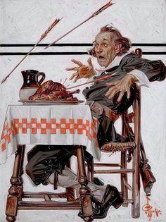 Leyendecker, Joseph Christian (b,1874)- Thanksgiving, I- 'Sat Eve Post'- Nov. 1920