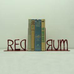 REDRUM Metal Art Bookends  $49.99, via Etsy.