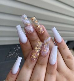 Acrylic Nails Coffin Pink, Long Square Acrylic Nails, Acrylic Nails With Design, Acrylic Nail Designs Coffin, Wedding Acrylic Nails, Coffin Acrylics, White Coffin Nails, Coffin Shape Nails, Pink Acrylics