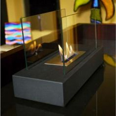 Nu-Flame Incendio 13.8 in. Tabletop Decorative Bio-Ethanol Fireplace in Black NF-T1INO at The Home Depot - Mobile