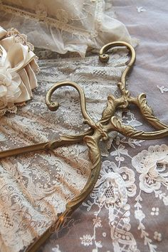 Lace and beautiful hangers