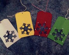 Snowflake gift tag set of 8 by PLTcrafts on Etsy