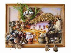 """Картина-панно прямоугольная большая """"Украинские мотивы» (Счастья в доме) - Картины, панно"""