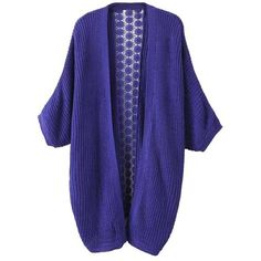 Yoins Purple Loose Knitted Cardigan ($31) found on Polyvore featuring tops, cardigans, purple, sweaters & cardigans, sexy tops, purple cardigan, ribbed top, wrap cardigan and loose cardigan