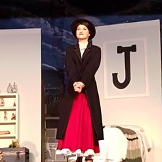 """I'll stay until the wind changes or the chain breaks."" Dont miss Mary Poppins this week at O'Neil CVI. June DM me for more info. Mary Poppins Costume, Miss Mary, Thing 1, Julie Andrews, Musical Theatre, Costume Design, Musicals Broadway, Change, Costumes"