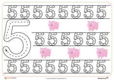 11grafomotricidad numeros | El Portal de Educapeques Numbers Preschool, Preschool Worksheets, Writing Numbers, Kids Education, Kids Learning, Homeschool, Classroom, Teaching, Crafts