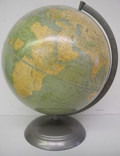 "12"" Peerless, Globe Maker: Time tested WC school supplies; Cartographer: Weber Costello Co. (Published: c1949. Chicago Heights, Illinois)"