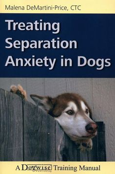 Treating Separation Anxiety in Dogs by Malena Demartini-price, available at Book Depository with free delivery worldwide. Dog Separation Anxiety, Dog Anxiety, Anxiety Tips, Anxiety Help, Dog Training Books, Training Tips, Behavioral Issues, Dog Books, Left Alone