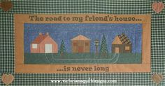 "Neighbours paper pieced quilt pattern.  ""The road to my friend's house...is never long"". #quilting"