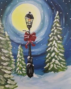 We host painting events at local bars. Come join us for a Paint Nite Party! Winter Painting, Time Painting, Painting & Drawing, Nativity Painting, Winter Pastels, Paint And Sip, Unusual Art, Christmas Paintings, Pastel Art