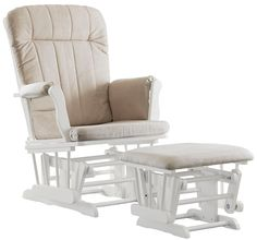 Graco by LaJobi Avalon Glider/Ottoman - Classic White - Best Price