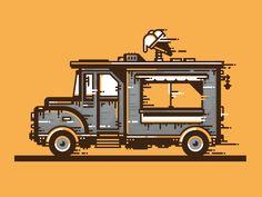 old ice-cream truck
