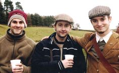Dominic Monaghan, Billy Boyd, and Elijah Wood. With enough coffee, I am convinced that Hobbits could rule the world.