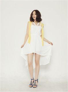 White summer dress    #summer #dress #koreanfashion #koreanstyle #kooding
