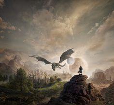 Elder Scrolls, Skyrim, World, Painting, Art, Art Background, Painting Art, Kunst, Paintings